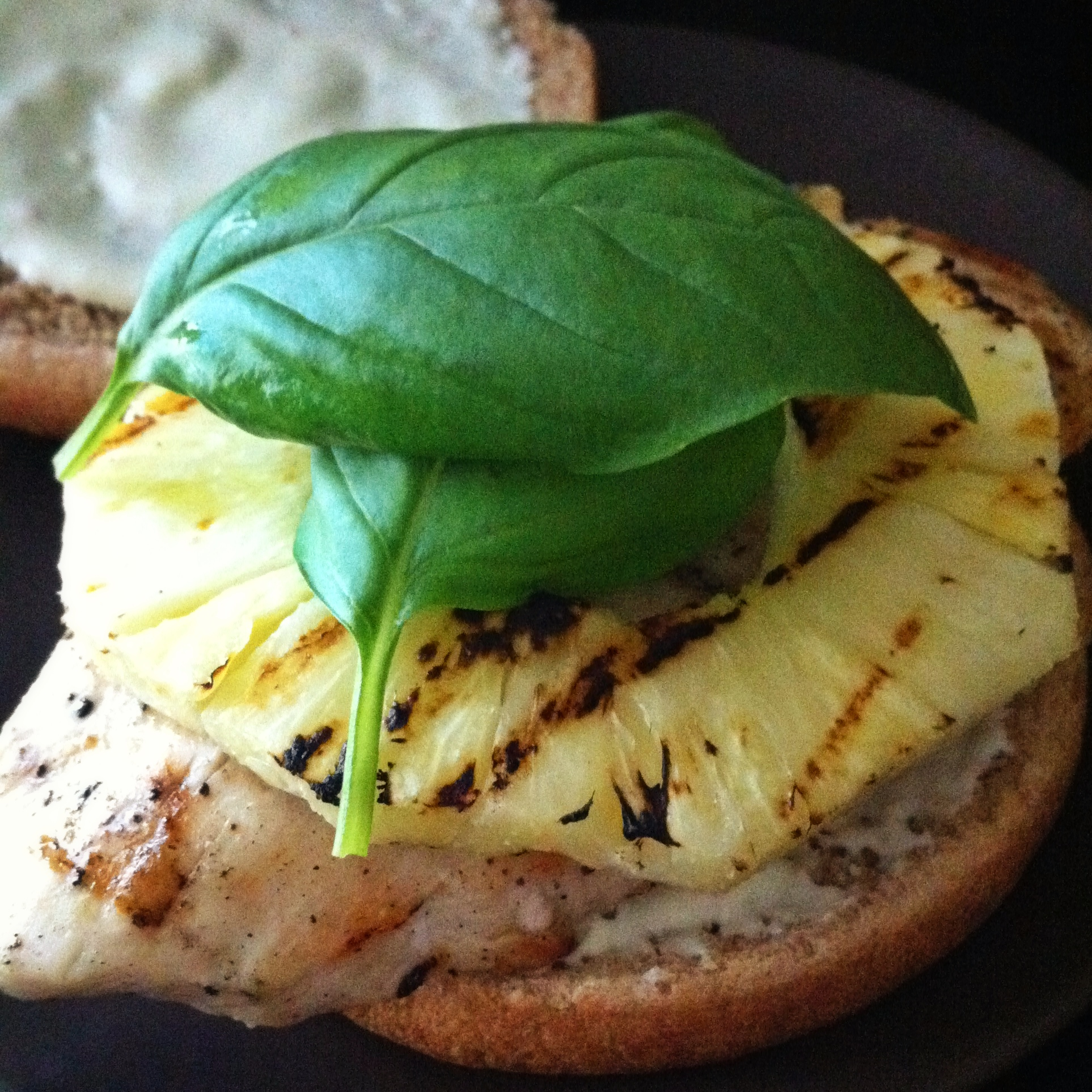 grilled chicken and pineapple sandwiches with wasabi mayo