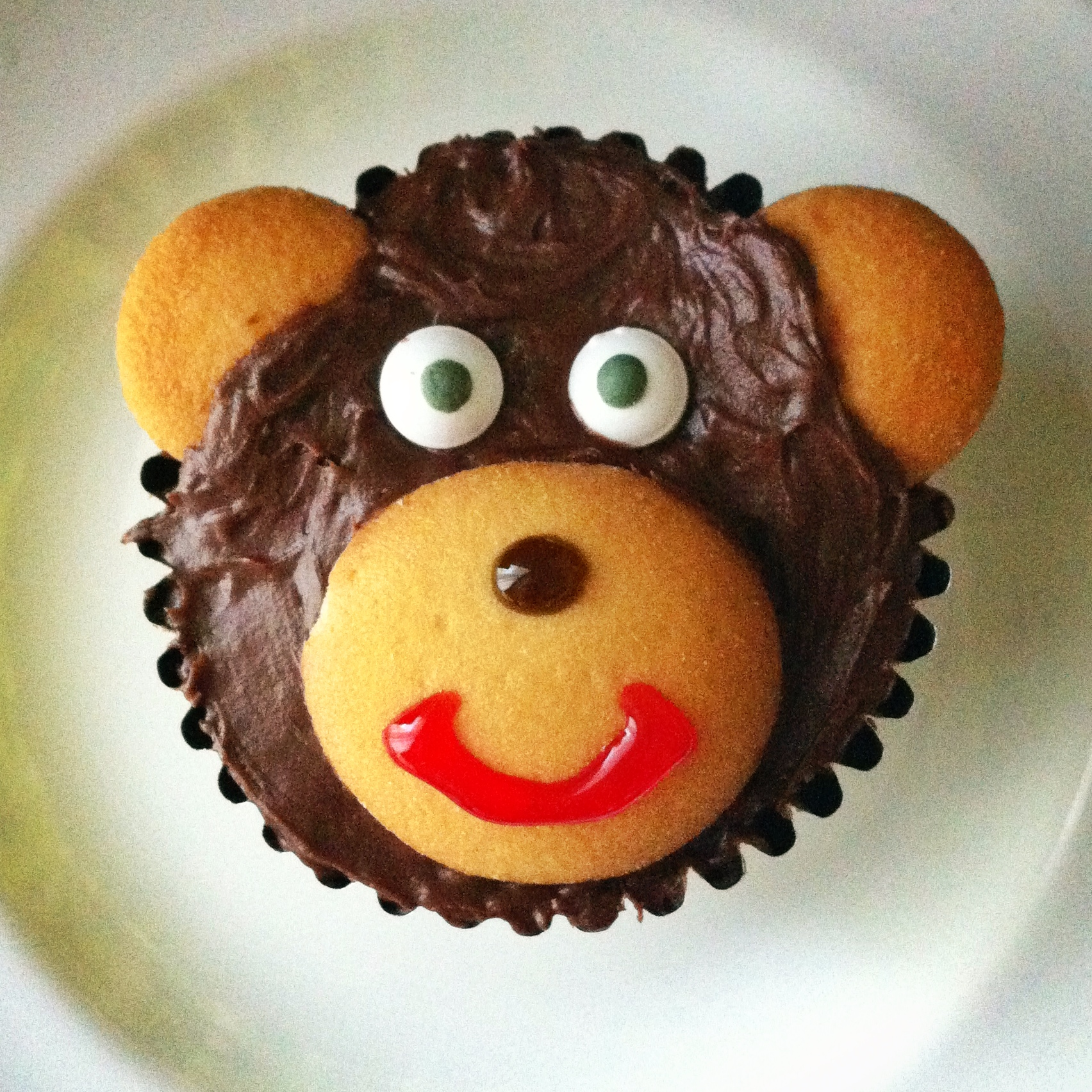 Monkey Face Cupcakes Monkey Face Right up