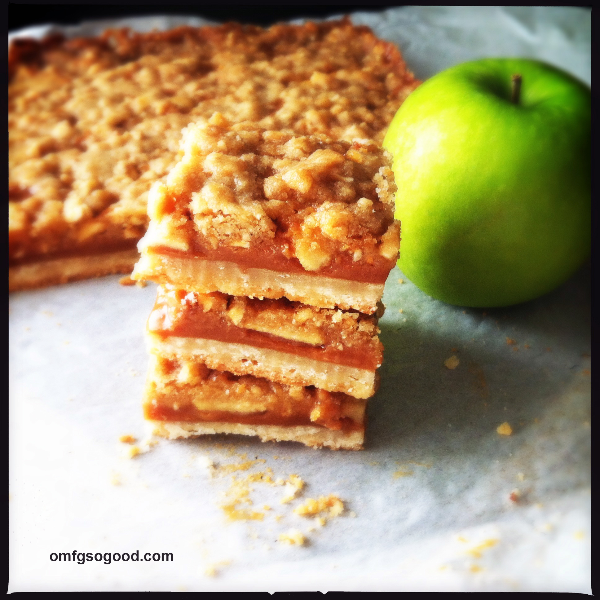 salted caramel apple bars | omfg. so good.