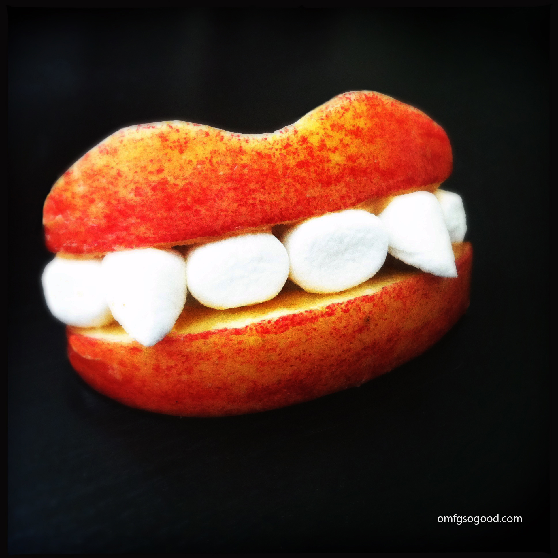 apple marshmallow fangs