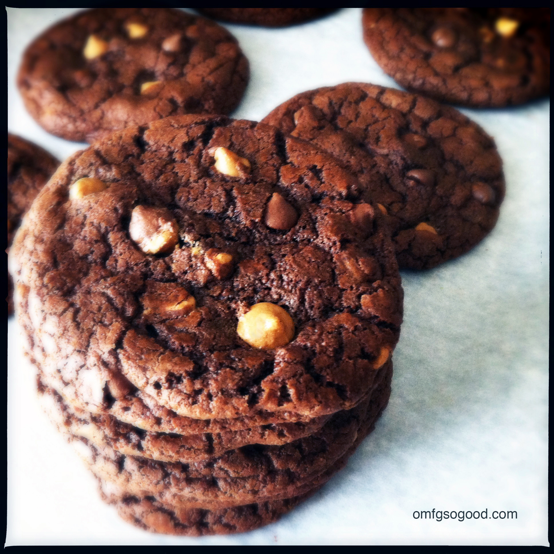double chocolate double peanut butter cookies | omfg. so good.