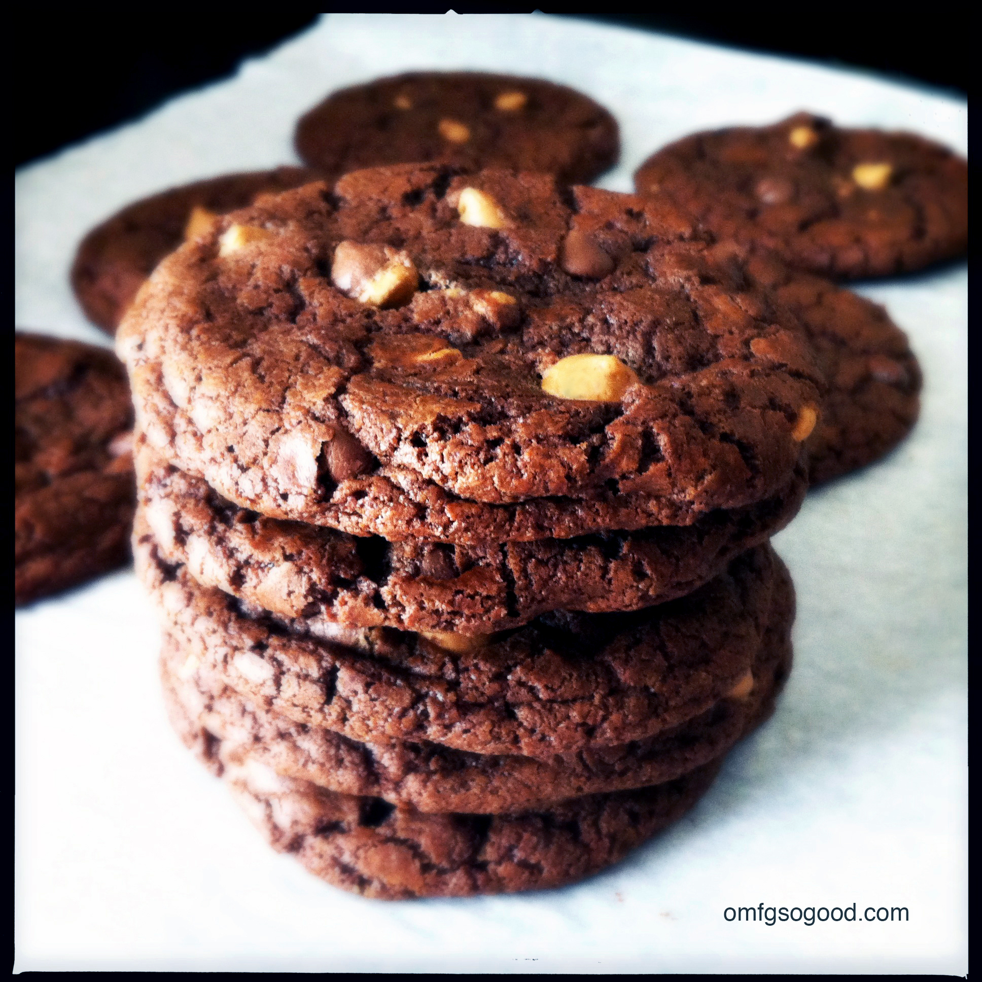 Double Chocolate Chunk Peanut Butter Cookies