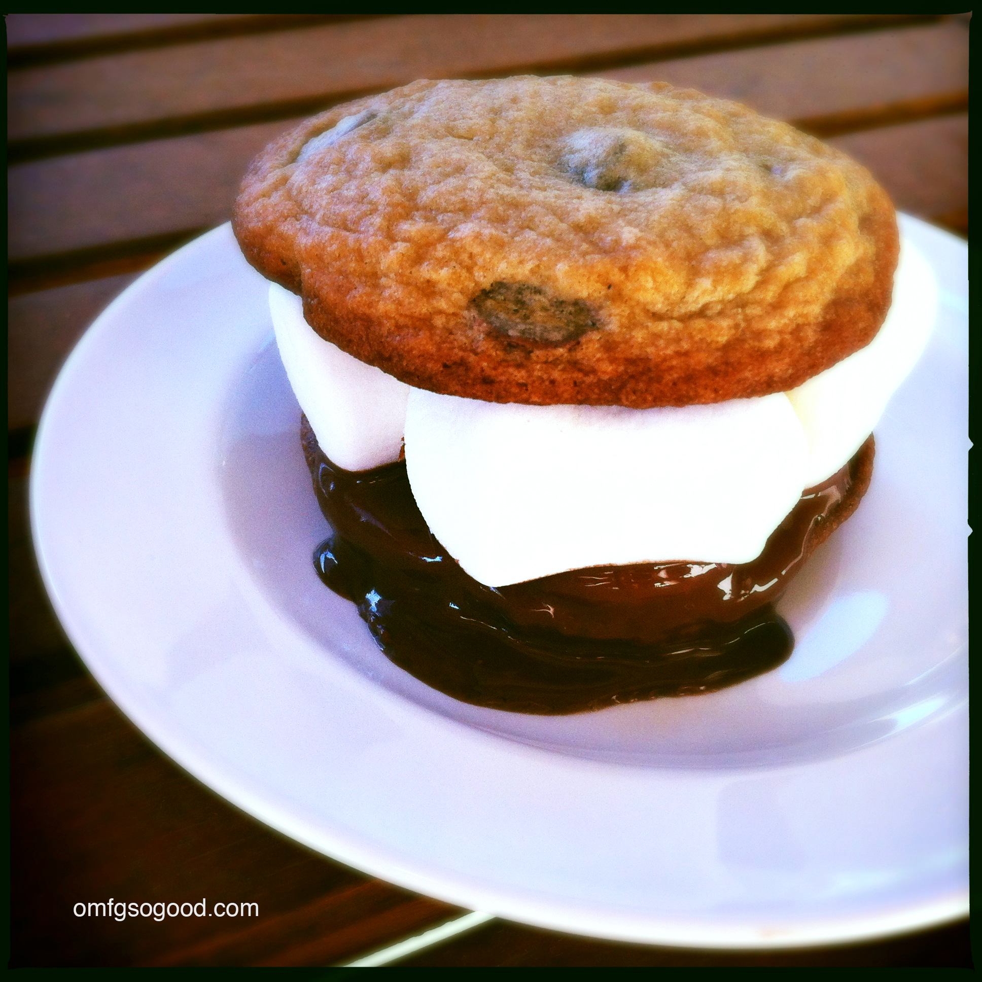 chocolate chip cookie peanut butter cup s'mores | omfg. so good.