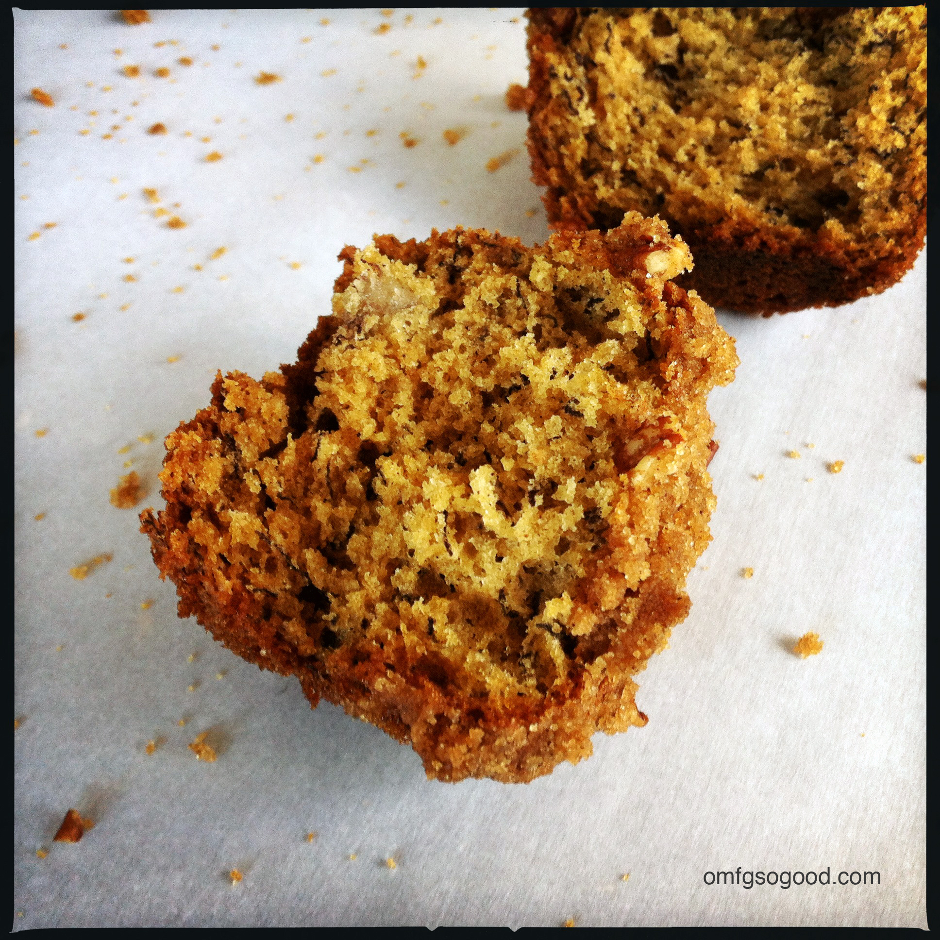 brown butter roasted banana muffins   omfg. so good.