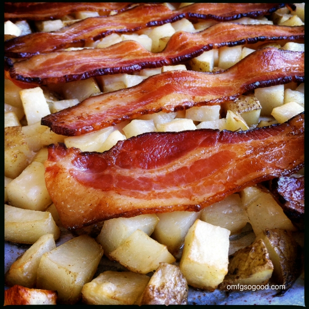 Pan Roasted Bacon with Potatoes