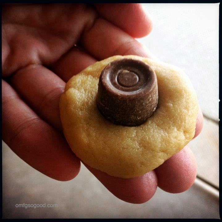 Rolo Stuffed Cookie Dough