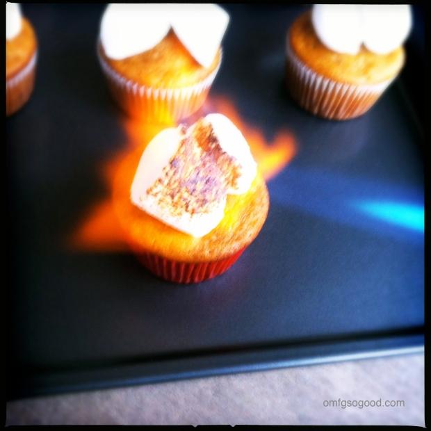 Sweet Potato Cupcakes Roasting Marshmallows_2