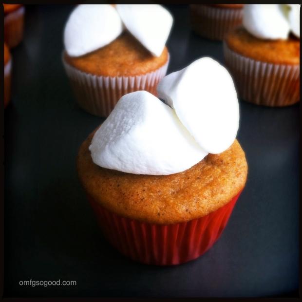 Sweet Potato Cupcakes with Marshmallows