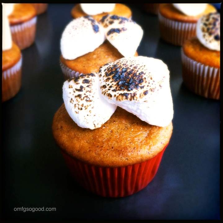 Sweet Potato Cupcakes with Roasted Marshmallows_3