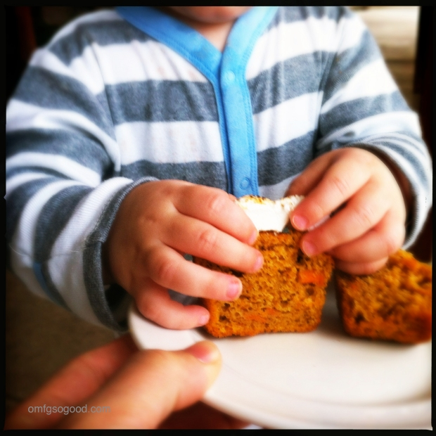 Sweet Potato Cupcakes with Sneaky Hands