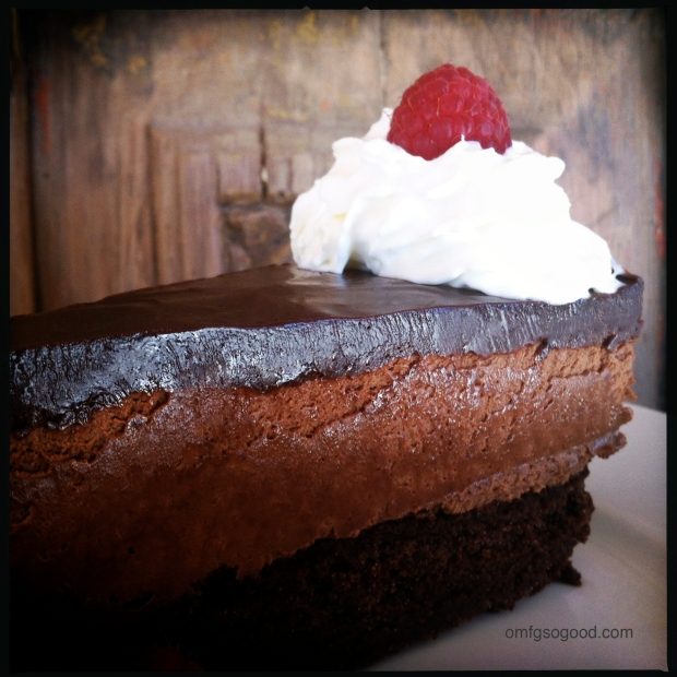 Three Layer Chocolate Mousse Cake
