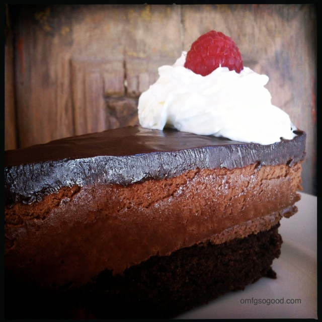 Ghirardelli Chocolate Espresso Mousse Layer Cake