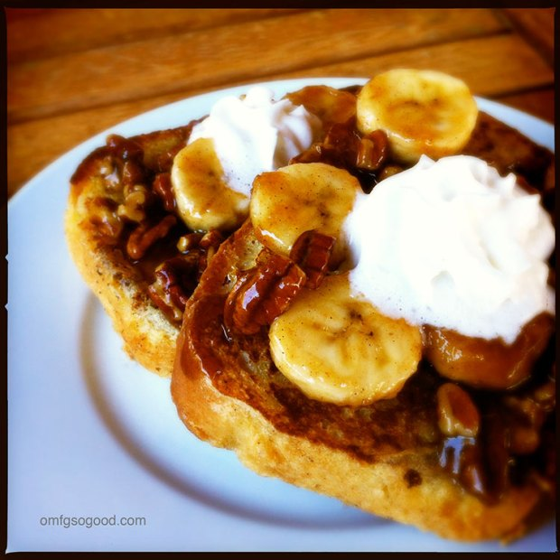 bananas foster french toast | omfg. so good.