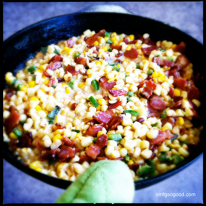 bacon and roasted jalapeño creamed corn
