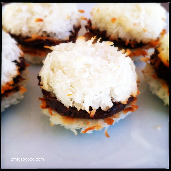 coconut macaroon sandwiches