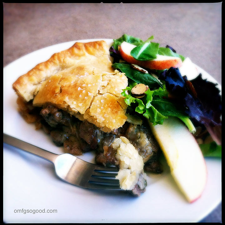 steak mushroom and gruyere pie
