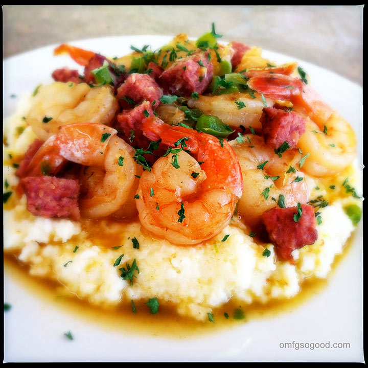 shrimp and mascarpone creamed grits