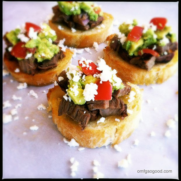 Carne-Asada-Toasts