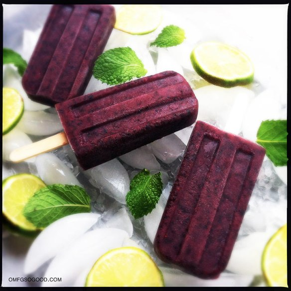 blueberry mojito paletas | omfg. so good.