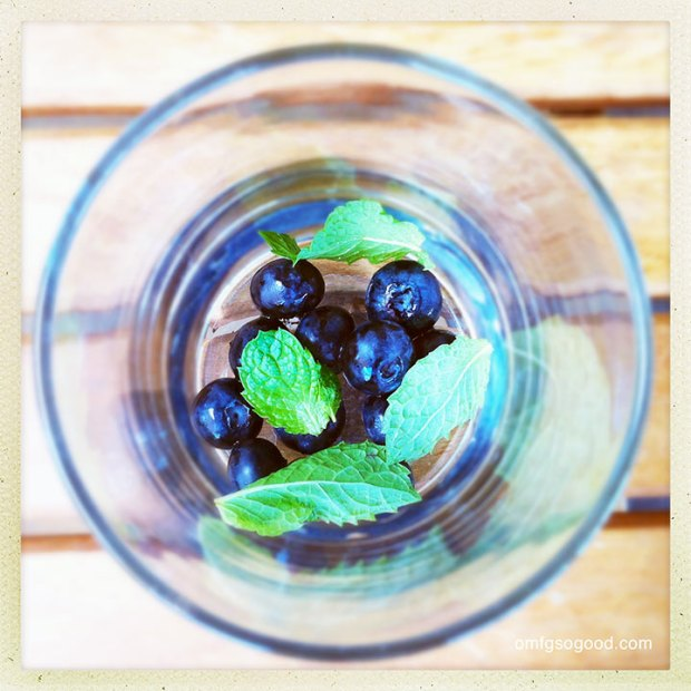 Blueberry-Mojitos