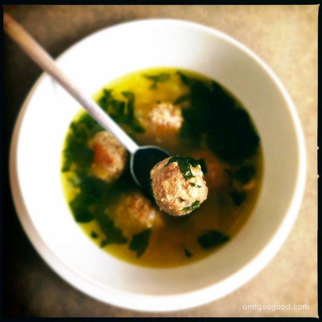 italian wedding soup with turkey meatballs | omfg. so good.