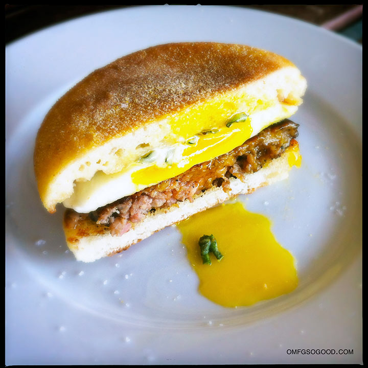 sausage and egg sandwich with maple sage mayo | omfg. so good.