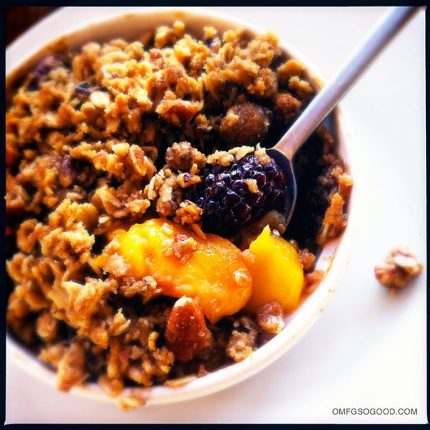 Blackberry-Peach-Crisp