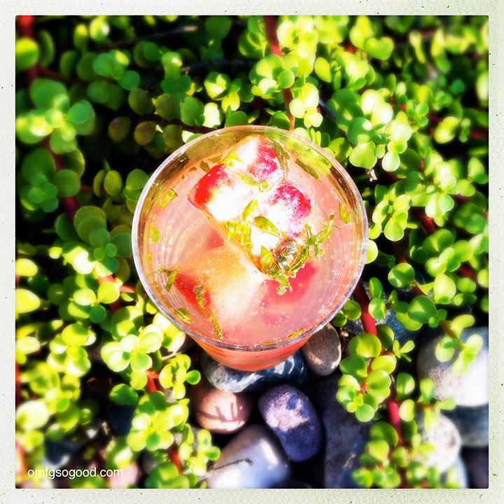 sparkling strawberry basil lemonade | omfg. so good.