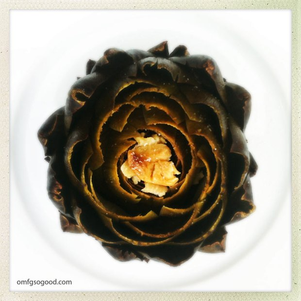 Roaste-Artichoke-with-Garlic-Lemon-and-Olive-Oil