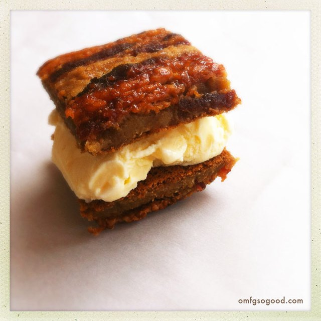 candied bacon maple blondies | omfg. so good.