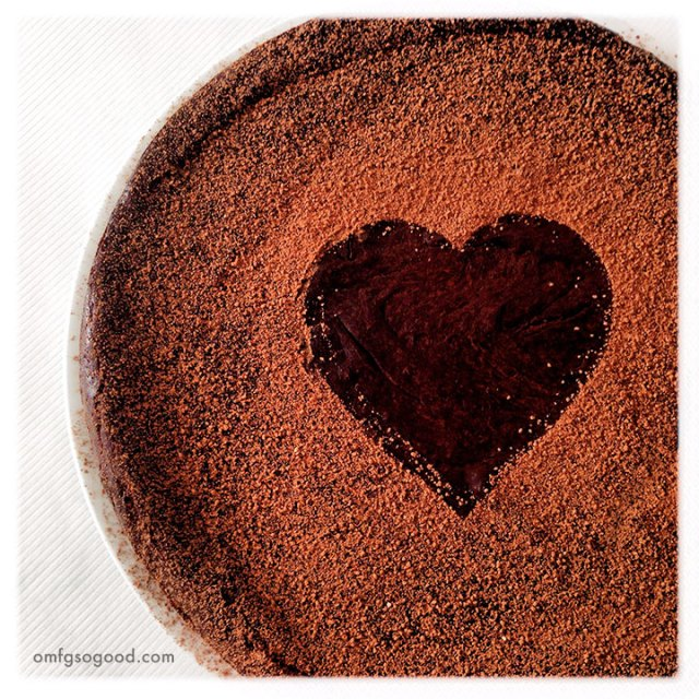 flourless dark chocolate red wine cake | omfg. so good.