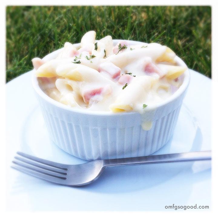 ham and swiss macaroni andcheese