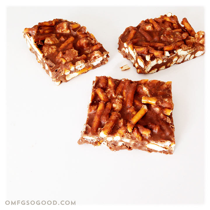 chocolate peanut butter marshmallow pretzel bars