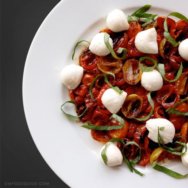 slow roasted heirloom tomato caprese salad | omfg. so good.