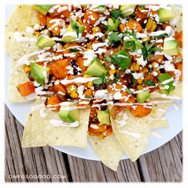 Roasted-Sweet-Potato-Black-Bean-and-Corn-Nachos