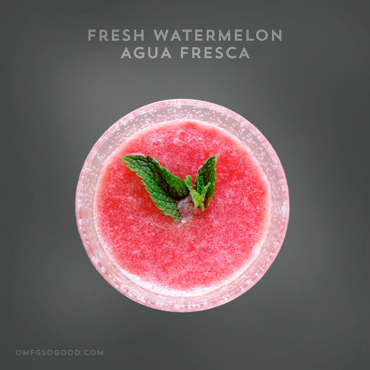 fresh watermelon agua fresca