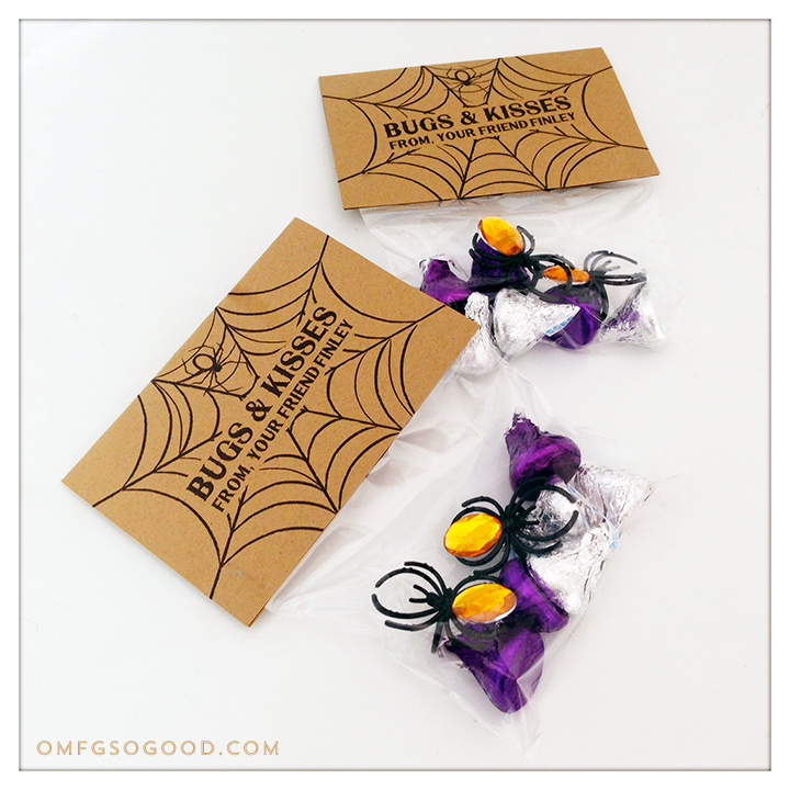 bugs & kisses halloween treat bags