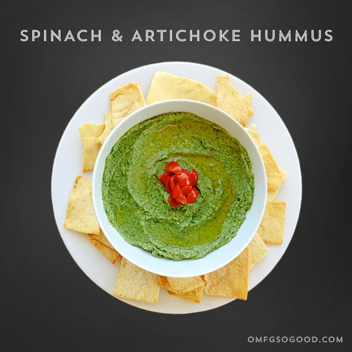spinach & artichokehummus