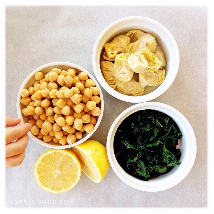 spinach & artichoke hummus | omfg. so good.
