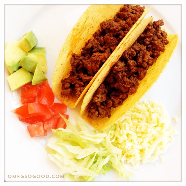 classic crunchy beef tacos