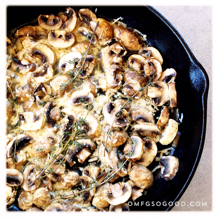 parmesan roasted mushrooms